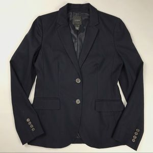 J Crew Navy Blazer in Superfine cotton Size 4